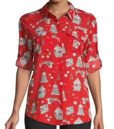 Karl Lagerfeld Flame Scarlet Graphic  Shirt