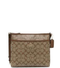 Coach Khaki Saddle File Medium Crossbody