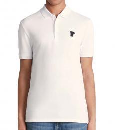 Versace Collection White Medusa Logo Polo