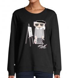 Black Painting Karl Sweatshirt