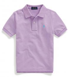 Little Boys English Lavender Mesh Polo