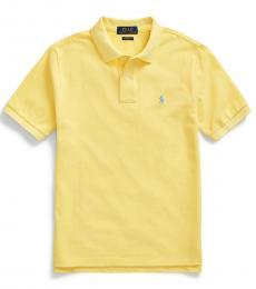 Ralph Lauren Boys Oasis Yellow Mesh Polo