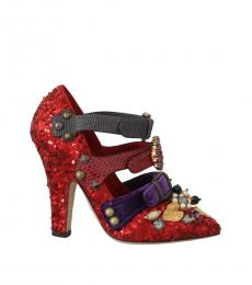 Red Sequined Crystal Heels
