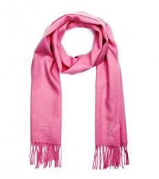 Saint Laurent Pink Logo Scarf