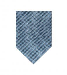 Light Blue Micro Plaid Tie