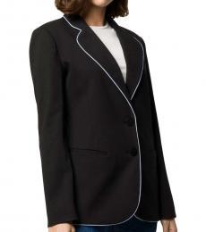Emporio Armani Black & White Tailored Single Breasted Blazer