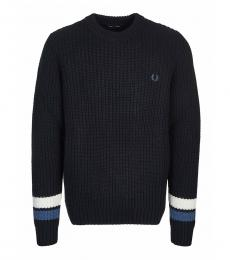 Fred Perry Black Colorbock Logo Sweater