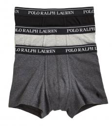 Ralph Lauren Dark Grey 3-Pack Classic Trunks