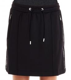 Kenzo Black Logo Side Tape Skirt