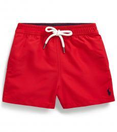 Baby Boys Red Traveler Swim Trunk