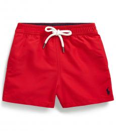 Ralph Lauren Baby Boys Red Traveler Swim Trunk