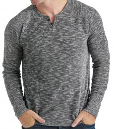 Lucky Brand Dark Grey Marled Long Sleeve Henley