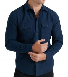 Navy Blue Solid Classic Fit Shirt