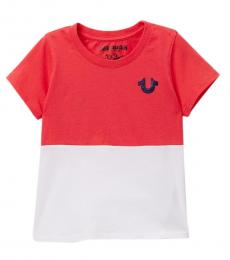 True Religion Little Girls Coral True Half T-Shirt