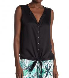 Tommy Bahama Black Front-Tie Tank Top