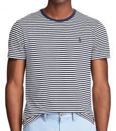 Ralph Lauren White Custom Slim Striped T-Shirt