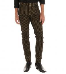 Saint Laurent Golden Pinstripe Jeans