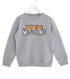 Moschino Little Girls Grey Teddy Sweatshirt