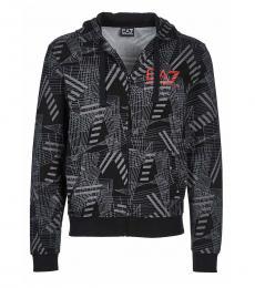 Emporio Armani Black Print Logo Jacket