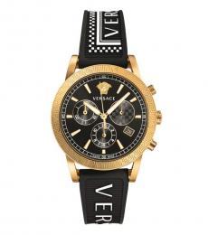 Versace Black Sport Tech Chronograph Watch