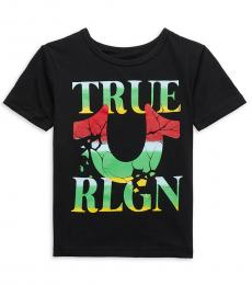 True Religion Little Boys Black Horseshoe Logo T-Shirt