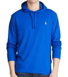 Ralph Lauren Royal Blue Jersey Hooded T-Shirt