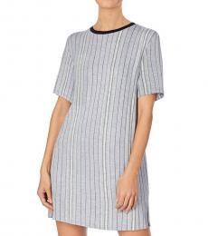 DKNY Light Grey Printed Sleep Shirt Nightgown