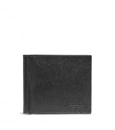 Coach Black Logo Money Clip Billfold Wallet
