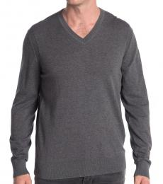 Michael Kors Grey V-Neck Pullover Sweater