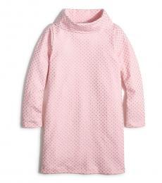 J.Crew Girls Pink Gold Turtleneck Knit Dress