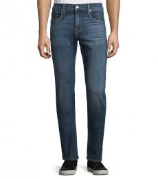 7 For All Mankind Navy Blue Classic Slim-Fit Jeans