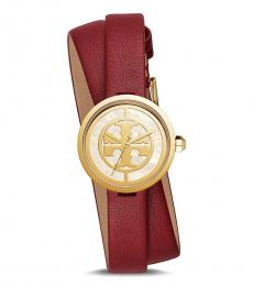 Tory Burch Red Double Wrap Watch