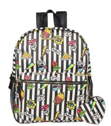 Betsey Johnson Multicolor Splatter Medium Backpack
