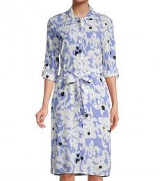 Diane Von Furstenberg White Kadina Floral Shirtdress