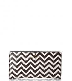Kate Spade BlackWhite Stacy Wallet