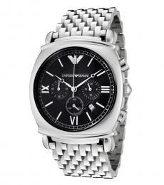 Emporio Armani Silver Chronograph Watch