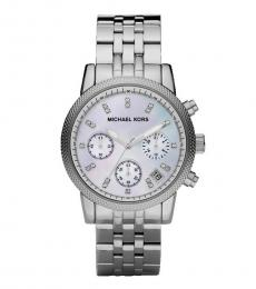 Michael Kors Silver Mother of Pearl Watch