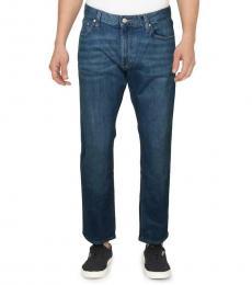 Michael Kors Dark Blue Parker Slim Fit Mid-Rise Jeans