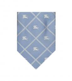 Burberry Light Blue Check Logo Tie