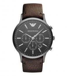 Emporio Armani Brown Stylish Chrono Watch