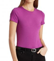 Ralph Lauren Sunrise Orchid Cotton-Blend T-Shirt
