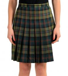 Multicolor Checkered Pleated Skirt