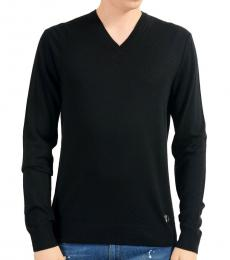 Versace Collection Black Wool Cashmere Light Sweater