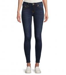 Blue Embellished Skinny Jeans