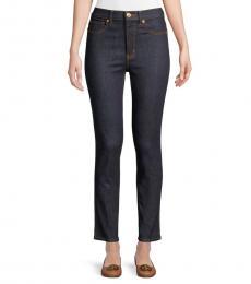 Resin Rinse Straight-Leg Jeans