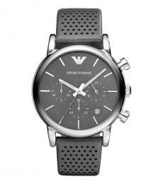 Grey Chronograph Silver Tone Watch
