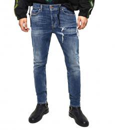 Diesel Dark Blue Distressed Tepphar Jeans