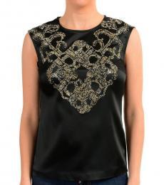 Versus Versace Black Embellished Sleeveless Top