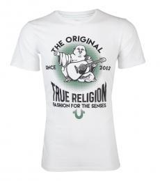 White Real Deal Buddha T-Shirt