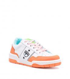 Chiara Ferragni Orange Eye Sneakers
